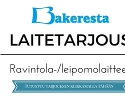 Laitetarjous ravintolalaitteet/leipomolaitteet