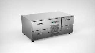 Cold grollcounter w. 4 drawers