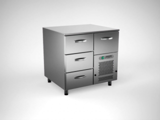 Cold counter with 4 drawers