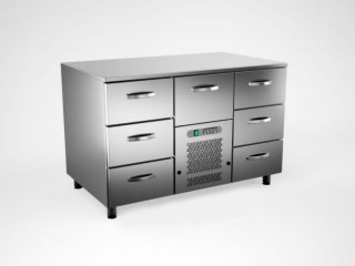Coldcounter with 7 drawers