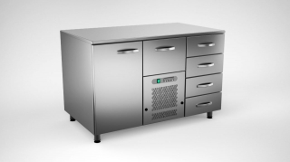 Cold counter w.5 drawers nad 1 door