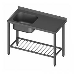 Allaspöytä yksialtainen S600/12 ritlähyllyllä